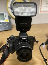 Canon EOS M50 24.1MP Mirrorless Camera. With Flask, Extra battery, cam bag acces