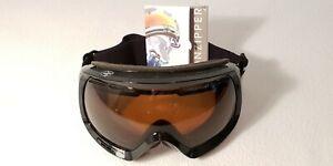 VINTAGE VONZPPER Snow Ski snowboard.Goggles black gloss bronze one+bonus