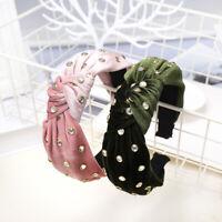 Women's Velvet Tie Headband Hairband Twist Knot Hair Bands Hoop Accessories