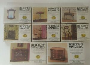 The House of Miniatures dollhouse furniture lot of 8 Chippendale Queen Anne more