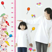 FJ- Cartoon Piggy Kids Height Chart Wall Sticker Nursery Kids Room Decal Decor A