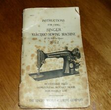 Singer Sewing Machine Book 201-1
