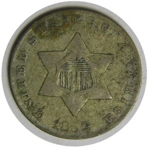 elf Three Cents Silver  1852   Type I