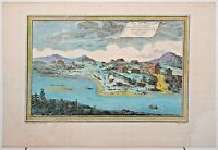 17TH ART OLD PRINT ANTIQUE  COLOR GRAVURE RUSSIA VIEW OF THE SOUTH COAST SIBERIA