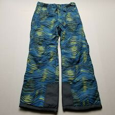 Arctix Youth Snow Pants sz M Style #1150 Reinforced Knees & Seat Blue Yellow H3