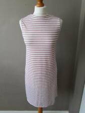 Polyester Scoop Neck Summer/Beach Striped Dresses for Women