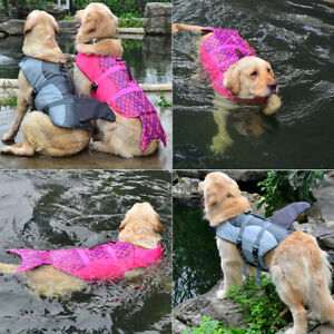 Shark/Mermaid Dog Life Jacket Neoprene Preserver Pet Safety Swimming Vest S M L
