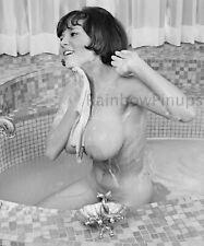 B753 10x12 BUSTY 1960s Pinup, DARBY BRIDGES #1 * BIG PENDULOUS BREASTS! (NUDES)