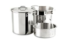 Al-clad Stainless Steel 12-Quart Multi Cooker Cookware Set, 3-Piece with Lid