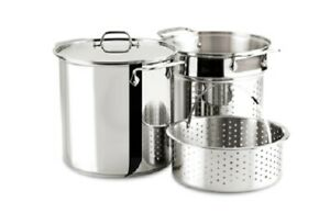 Al-clad Stainless Steel 8-Quart Multi Cooker Cookware Set, 3-Piece with Lid