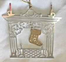 "AVON 2.5"" Metal GALARY ORIGINALS Silver/Goldtone Fireplace Ornament Figurine"