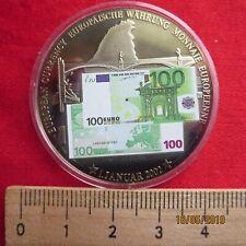 Medaille - Farbmedaille - 100 Euro 2002 - Europäische Währung - Europa Stier III