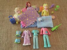 Polly Pocket POLLY GOES: To A Slumber Party! Sleepover Pajamas Accessories Q90