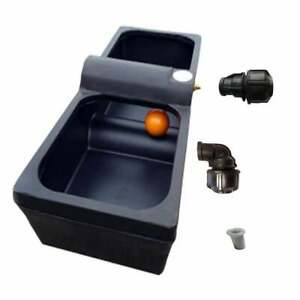 Titan 30g Drinker Agricultural Water Trough Inc Waterpipe Connector & Pipe Liner