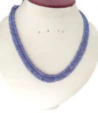 Tanzanite 3-5MM Gemstone Rondelle Faceted Multi Layer Beaded Jewelry Necklace