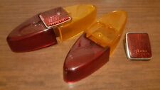 Fiat 1100D 600T Tail light lenses, set of 6 pieces, show quality.