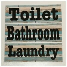 French Country Toilet Decorative Plaques & Signs