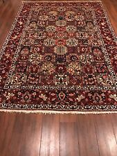 "Antique Bakhtiar Persian Handmade Wool Red Rug Size 8'6"" x 12'3"""