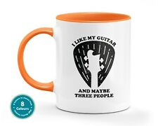 Guitar And Three People Music Mug Musician Office Gift Cup