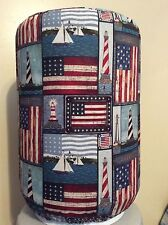 LIGHTHOUSE USA FLAG SAIL 5 GALLON WATER COOLER BOTTLE COVER KITCHEN DECORATION
