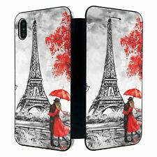 iPhone XS MAX Full Flip Wallet Case Cover Red Paris Nature - S6310