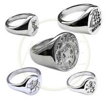 Sterlingsilber Ihre Familie Crest Signet Ringe 925 Massiv Oval UK Hm