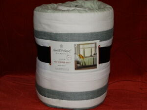 Hearth & Hand with Magnolia Green TWIN Engineered Stripe Quilt