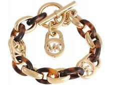 NWT MICHAEL KORS Gold Tortoise Bracelet MKJ1675 Padlock Chain MKJ1675710 $125