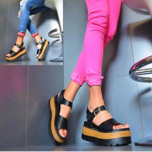 STAR ROCK Plateau NEU LUXUS Crazy Damenschuhe Pumps Trendy Sandaletten