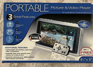 """NEW Open Box Smartparts Digital Picture Frame 7"""" viewable image 9"""" x 6.5""""  Wood"""