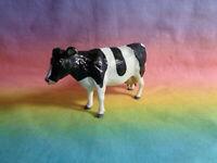 Vintage 1984 Britains Plastic Black / White Cow Farm Animal Figure
