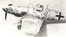 WWII RCAF Large RP- Airplane- Luftwaffe- Crashed Messerschmitt ME 109 Fighter