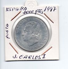 España 2000 ptas J.Carlos I 1997 sin circular plata quijote y sancho Ref. M032