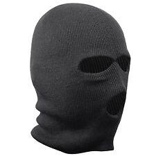 BLACK BALACLAVA MASK 3 HOLES WINTER SAS STYLE ARMY SKI HAT NECK WARMER PAINTBALL