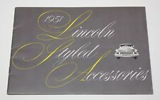 1951 Lincoln Motor / Automobile Styled Accessories 36 Page Catalog / Brochure