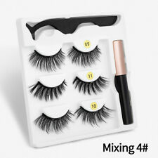 New 3 pairs Magnetic eyelashes 3D multi-layer thick natural curl handmade makeup
