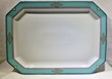 "OTELLO Bernardaud Limoges Large 15 ¾"" Oval Serving Platter Tray Southwest Pastel"