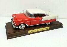 DANBURY MINT 1955 CHEVROLET BEL-AIR DIE-CAST 1:16 SCALE with Box & Wood Display