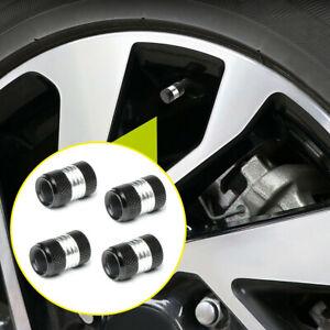 4x Black Car Tire Tyre Rim Wheel Air Valve Stem Dust Cap Cover Trim Accessories