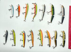 LOT OF 15 FISHING LURES RAPELLA AND REBEL