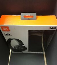 100% Genuine JBL T450 Wired Black Lightweight Foldable On Ear Headphone with Mic