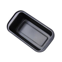 Rectangle Nonstick Box Loaf Tin Pastry Bread Cake Baking Pan Bakeware Black