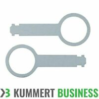2x Entriegelungswerkzeug VW Audi Beta Gamma Golf Autoradio Ausbau Bügel Set Paar
