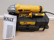 DEWALT DWE4206K 240V 115MM 1010 WATT ANGLE GRINDER + KITBOX & DIAMOND DISC