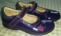 Girls Clark Purple Flashing Shoes 7 .5 F