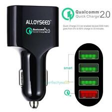 ALLOYSEED Quick Charge 2.0 54W 4 Ports USB Car Fast Charger Adapter 3x5V 2.4A