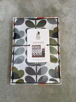 BNIB Orla Kiely Sea Blue Sweet Pea Print Standard Pillowcases x 2, Boxed