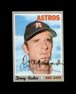 Doug Rader Hand Signed 1970 Topps Houston Astros Autograph