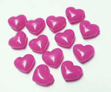 Neon Pink Magenta Large 18mm Hearts Pony Beads 25pc made USA kids crafts school