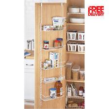 Over The Door Pantry Rack Organizer 5 Shelves Kitchen Storage Holder